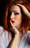 Sexy redhead young woman Royalty Free Stock Photography