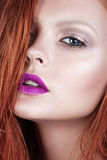 Sexy redhead young woman glamour portrait Stock Photo