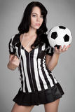 Sexy Referee Stock Photo