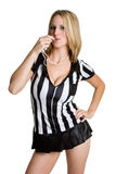 Referee Woman Royalty Free Stock Photography