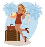 Sexy Reisemädchen des Sommers Stockbild