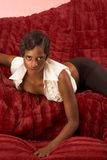 Sexy retro African-American woman Royalty Free Stock Images