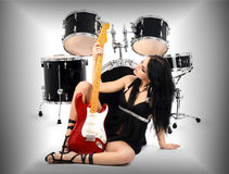 Sexy rock-n-roll Royalty Free Stock Images