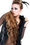 Sexy rocker girl  wiht cool makeup Stock Image