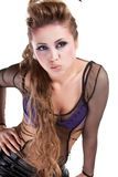 rocker girl  wiht cool makeup Royalty Free Stock Photography