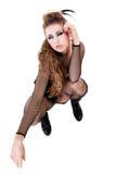Sexy rocker girl  wiht cool makeup Stock Photo
