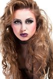 Sexy rocker girl  wiht cool makeup Royalty Free Stock Photos