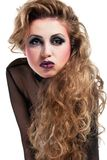 rocker girl  wiht cool makeup Royalty Free Stock Images