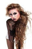 Sexy rocker girl  wiht cool makeup Royalty Free Stock Photo