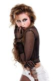 Sexy rocker girl  wiht cool makeup Stock Images