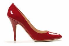 Sexy rode schoen royalty-vrije stock fotografie