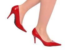 Sexy rode schoenen Stock Afbeelding