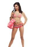 Sexy Roze Bikini Royalty-vrije Stock Afbeelding