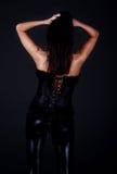 Sexy rug van model Stock Foto