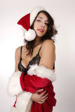Sexy Santa. Beautiful sexy women dress with santa claus costume Royalty Free Stock Images