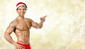Sexy Santa Claus Stock Afbeelding