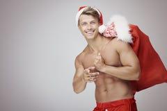 Sexy Santa Claus royalty-vrije stock afbeeldingen