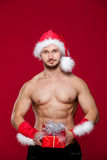 santa claus has surprise for you Royalty Free Stock Images
