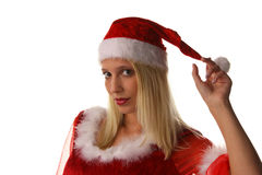 Sexy santa claus woman Royalty Free Stock Photo