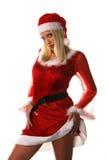 Sexy santa claus woman Stock Photos