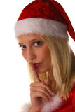 Sexy santa claus woman Stock Image