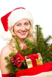 Sexy santa claus woman Stock Image