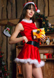 Sexy Santa Claus woman Stock Photography