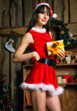 Sexy Santa Claus woman Stock Images