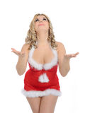 Sexy santa clause woman in party christmas clothes Royalty Free Stock Photography