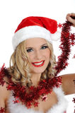 Sexy santa clause woman in party christmas clothes Stock Images