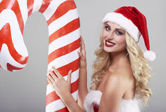 Sexy santa Stock Images