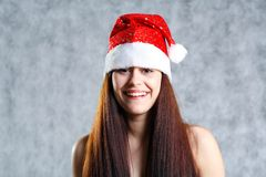 Sexy Santa face headshot Royalty Free Stock Image