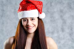 Sexy Santa face headshot Stock Photography