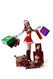 Sexy Santa with gifts Stock Photography