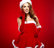 Sexy santa girl Royalty Free Stock Photo