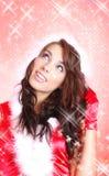 Sexy santa girl Stock Image