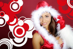 Sexy santa girl Stock Photography