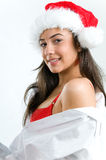 Sexy Santa girl Royalty Free Stock Image