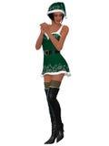 Sexy santa girl Stock Photos