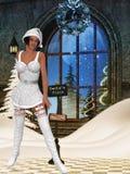 Sexy santa girl Stock Images