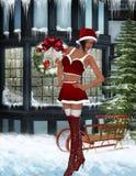 Sexy santa girl. 3d render of a sexy santa girl Royalty Free Stock Photo