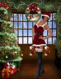 Sexy santa girl. 3d render of a sexy santa girl Stock Photography