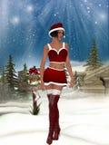 Sexy santa girl. 3d render of a sexy santa girl Stock Photos