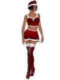 Sexy santa girl. 3d render of a sexy santa girl Stock Photo