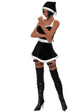 Sexy santa girl. 3d render of a sexy santa girl Stock Images