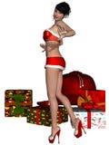 Sexy santa girl Stock Photo