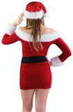 Sexy santa girl with hand on hip Stock Photos