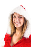 Sexy santa girl smiling at camera Royalty Free Stock Images