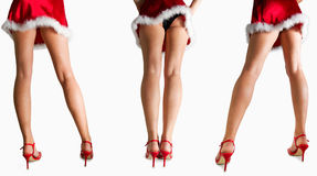 Sexy santa girls. With long legs Royalty Free Stock Image