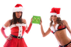 Sexy Santa girls. Stock Image